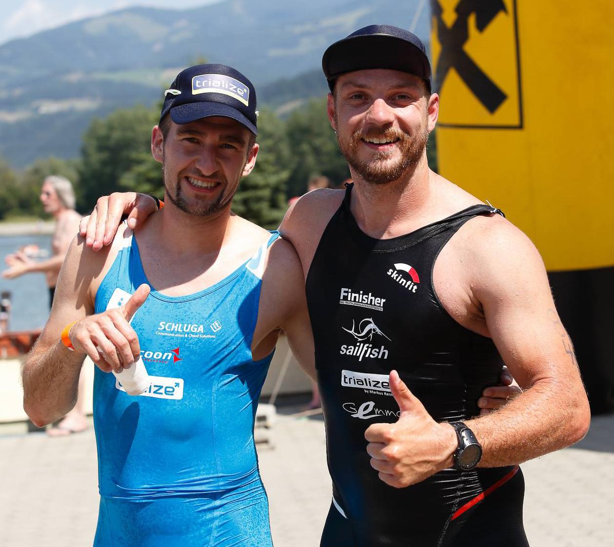 Happy im Ziel zu sein mit Martin vom Finisher Team - gratuliere zu deiner starken Leistung!