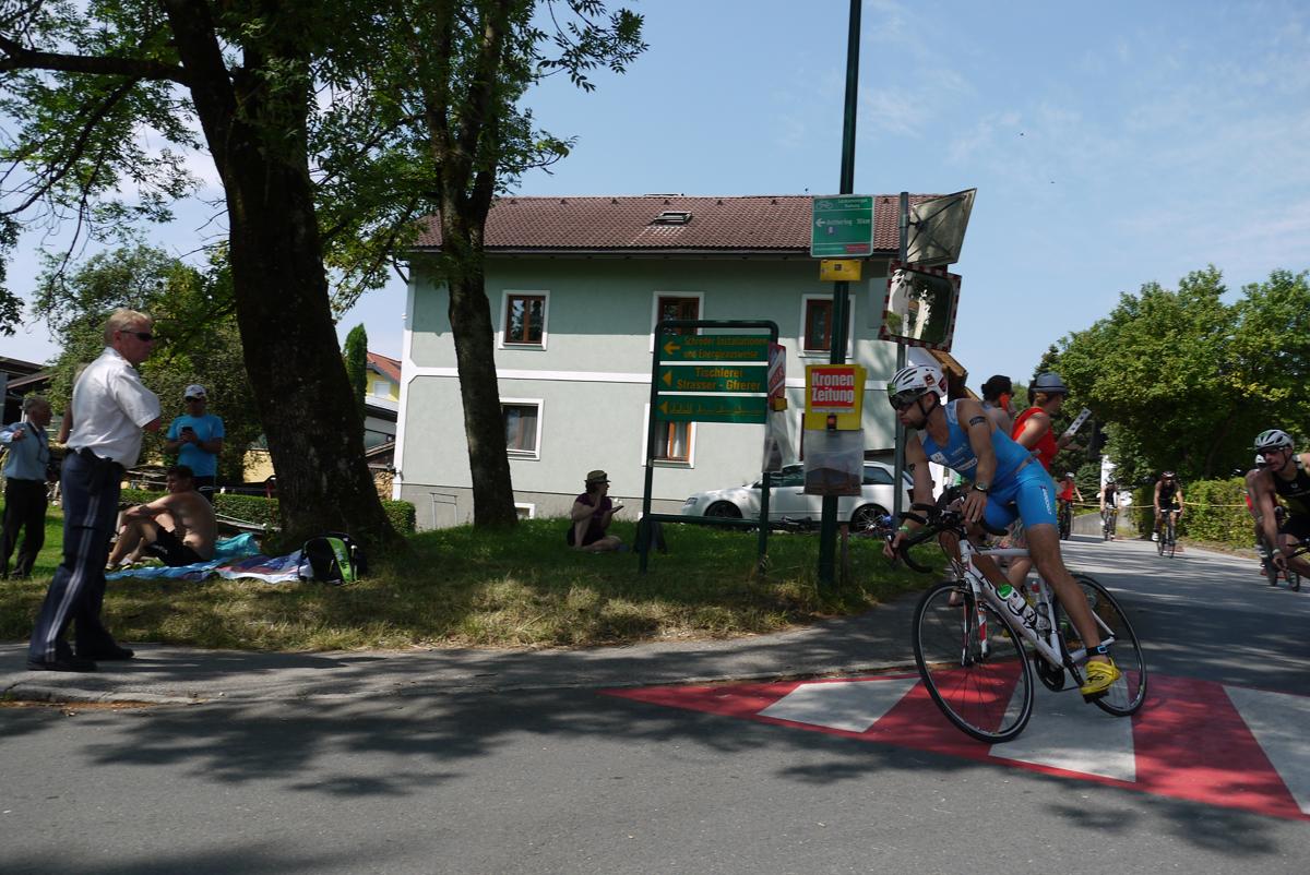 Am weg zur ersten Radrunde.