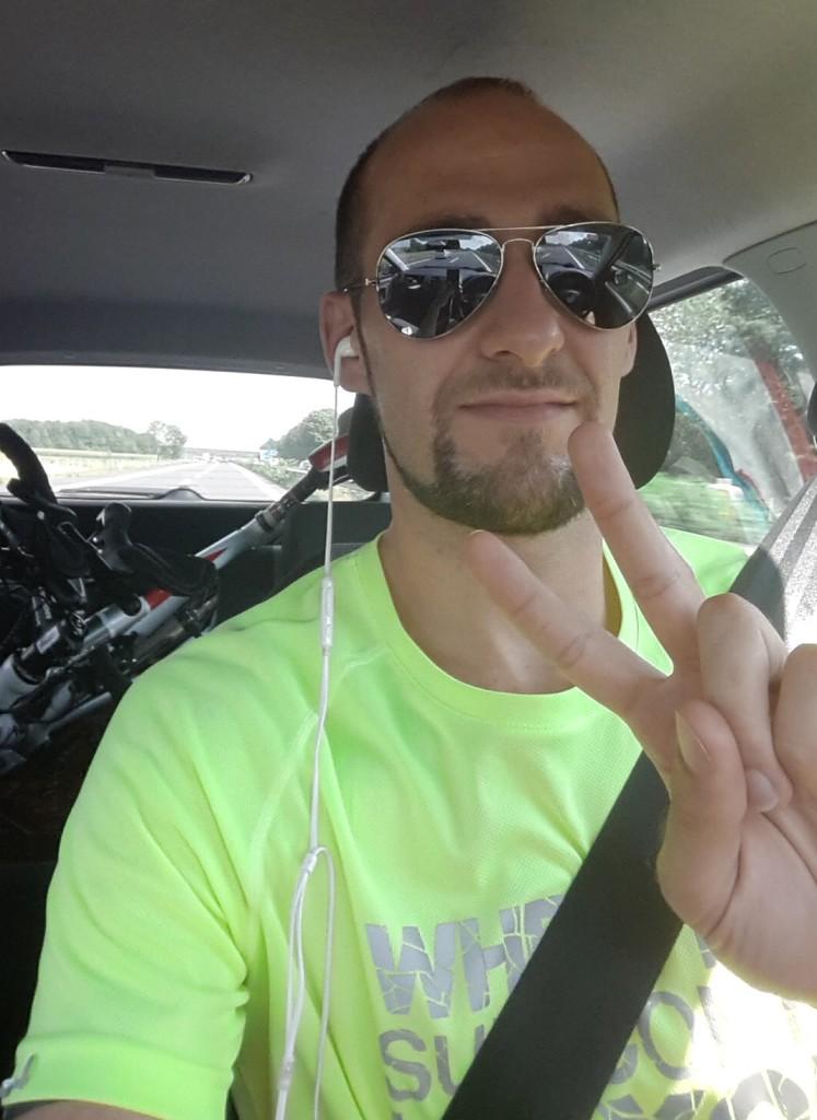 Zufrieden am Weg nach Hause vom Thermenland Triathlon 2015